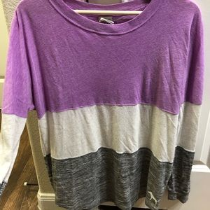 Victoria's Secret PINK Long Sleeve Colorblock Tee